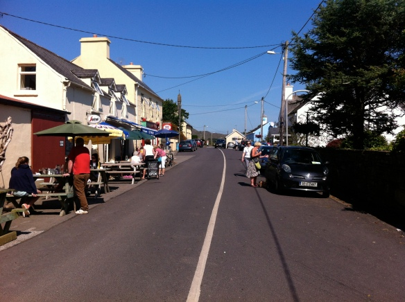 This is Kilcrohane on a wonderful summers day. Blue sky and warm breezes
