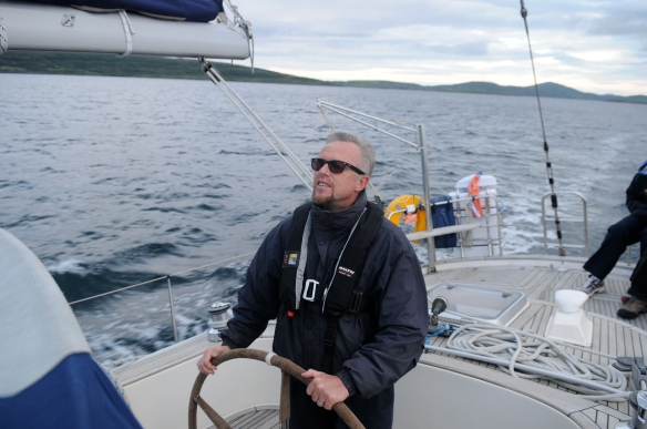 Life on the ocean wave. Notice the beard? Sadly no longer in place.