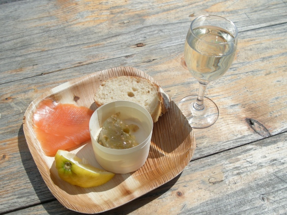 Manzanilla with some Ummera smoked salmon